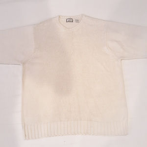 Solid Cotton and Acrylic Izod cable knit sweater